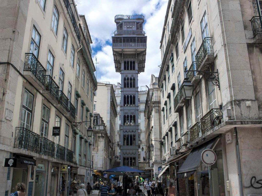 elevador santa justa-elevador lisbona-Lisbona-lisbon-Portogallo-Europe-Europa