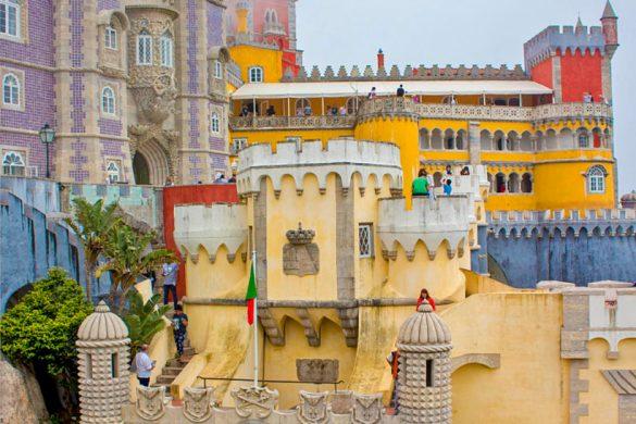 Palacio de pena panoramica-palacio de pena-Portogallo-Portugal-Europa-Europe