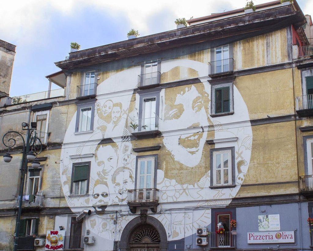volti rione sanità-riqualificazione rione sanitàStreet art Napoli-Napoli-Campania-Italia