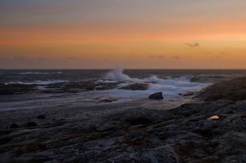 Lördag(september) kväll vid havet