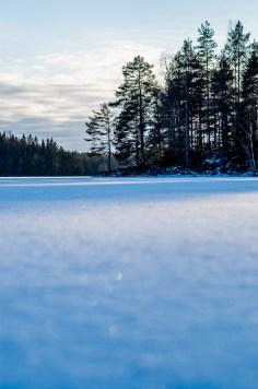 Solglitter i snön
