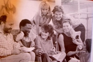 Some of the 'Otherllians' with Janet Suzman. Back row: Joanna Weinberg, Neil McCarthy. Front row: Richard Haines, John Kani, Janet Suzman, Dorothy-Ann Gould & me!