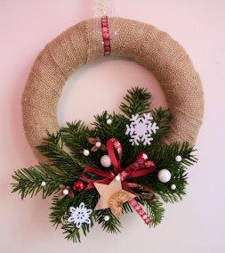 Couronne de Noël en jute