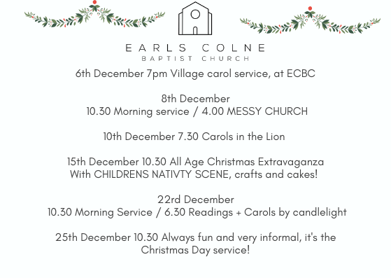 christmas services earls colne