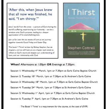 Lent course, starting today!