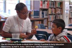 Nell Duke: Must Have Literacy Practices