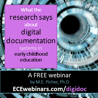 the research on digital documentation in early childhood education webinar