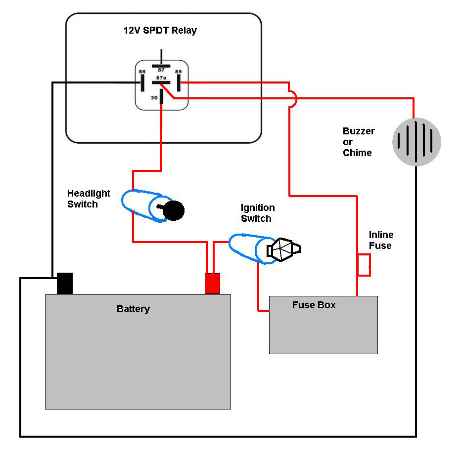 5 Pin Relay Wiring Diagram 12 Volt 5 Pin Relay Diagram ...  Wire Relay Wiring Diagram Headlight on