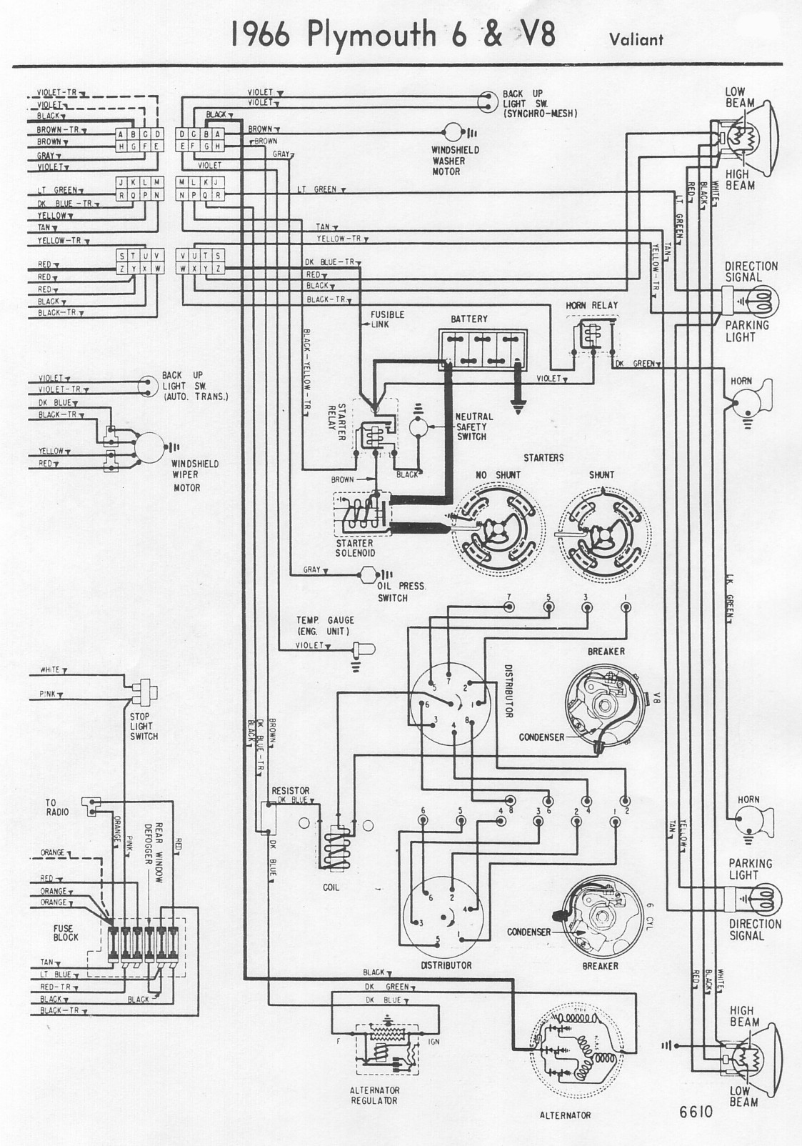 Wiring Diagram For 65 Plymouth 6