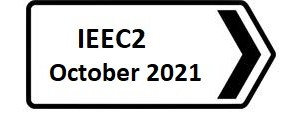 A sign pointing to October IEEC2