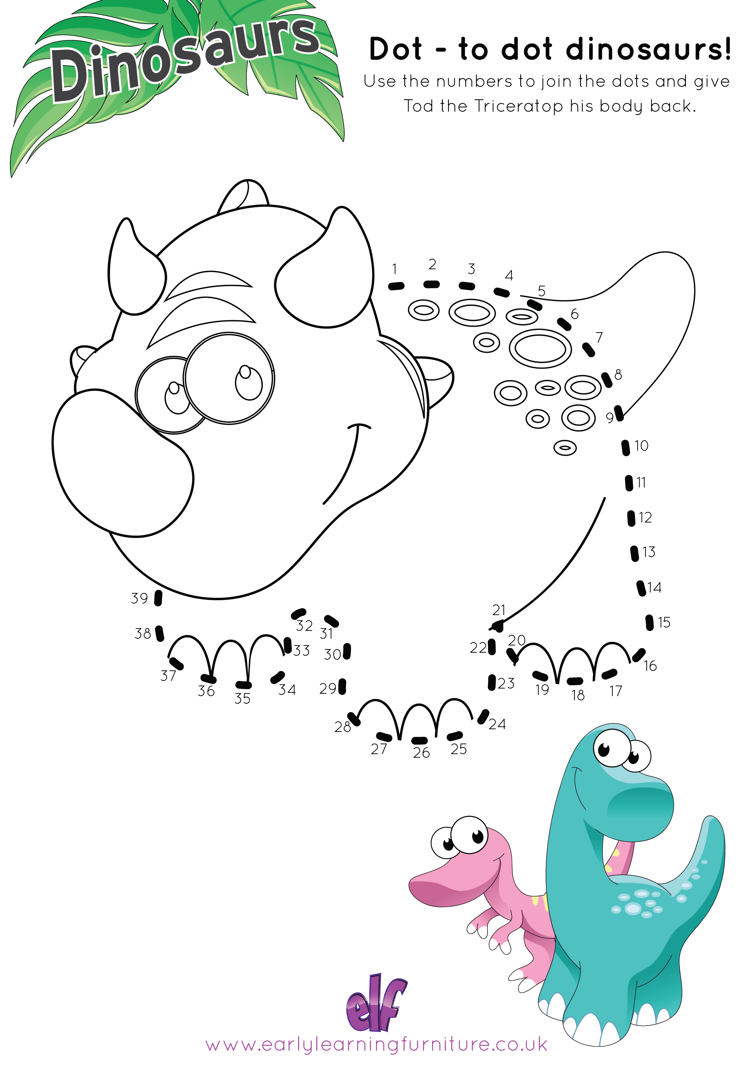 Dinosaur Printable Worksheets