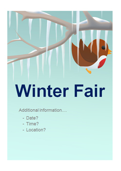 Editable Winter Fair Poster Free Early Years Amp Primary