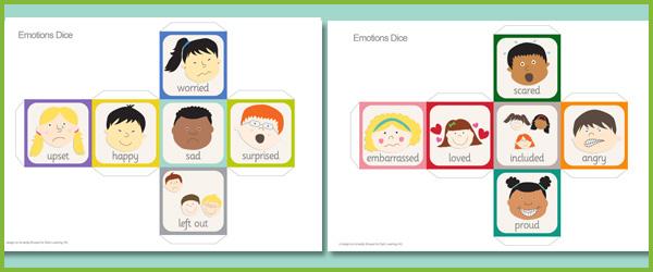 Erzelem Kocka Emotions Dice on Emotions Dice Editable Text