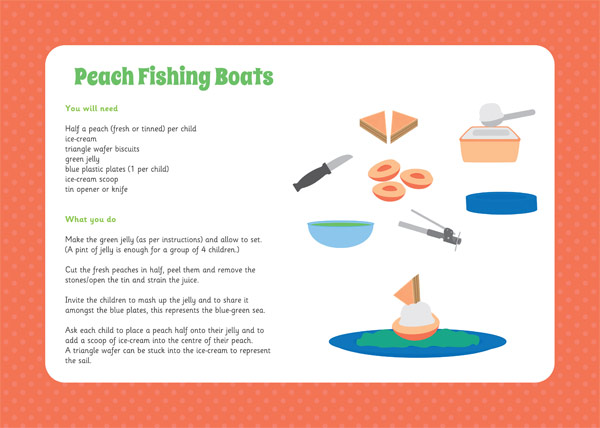 Peach Fishing Boats Cooking Activity Free Early Years