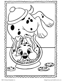 free printable 101 dalmatians coloring pages earlymoments com