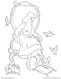 free printable cinderella coloring pages earlymoments com