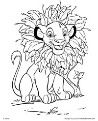 free printable the lion king coloring pages earlymoments com