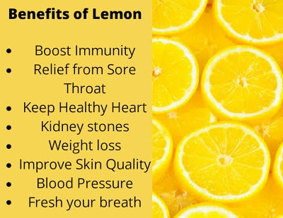 Top Benefits of Lemon for Our Health