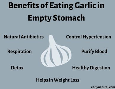 Health Benefits of Eating Garlic in Empty Stomach