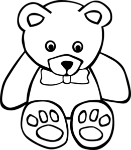 free teddy bear to color in