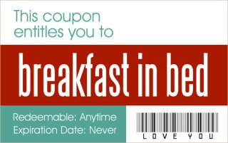 coupon for breakfast in bed