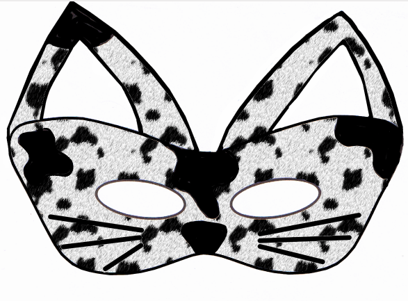 Animals early play templates for Caterpillar mask template