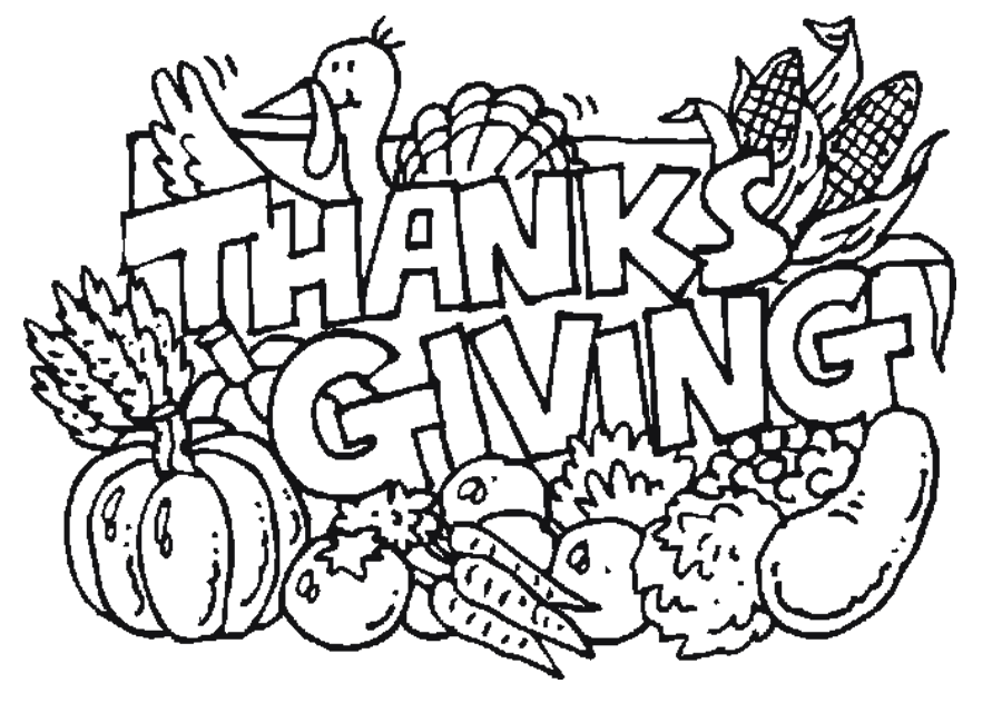 Thanksgiving Coloring in sheets