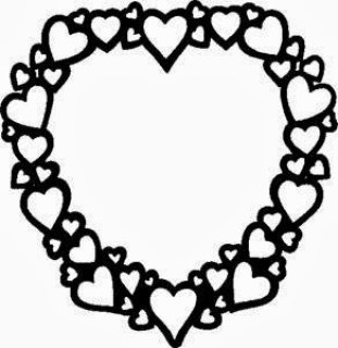 Valentine's Day heart colouring page