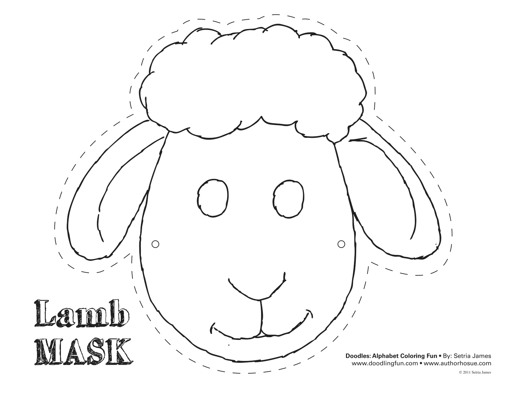 Easter early play templates for Caterpillar mask template
