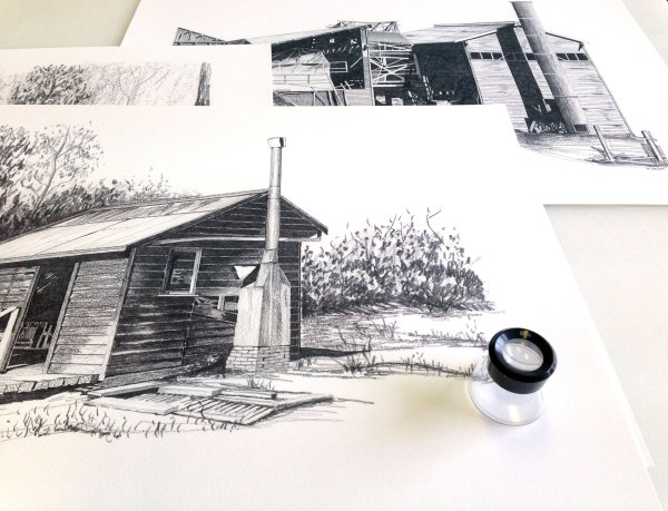 Mike Spight, Donnelly River buildings series