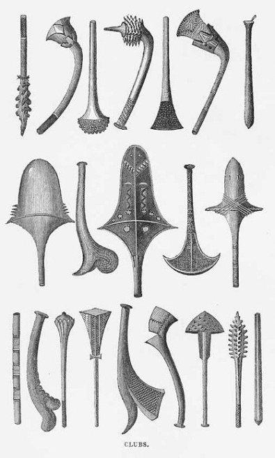 Mazze e clave delle sole isole Fiji