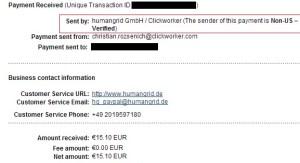 ClickWorker Payment Proof - An Alternative to Mturk