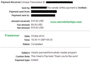 freelancer payment proof