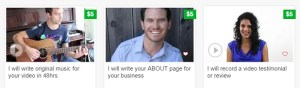 Gigs on fiverr