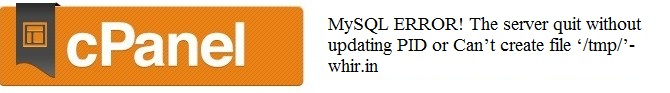 Starting MySQL. ERROR! The server quit without updating PID file 2