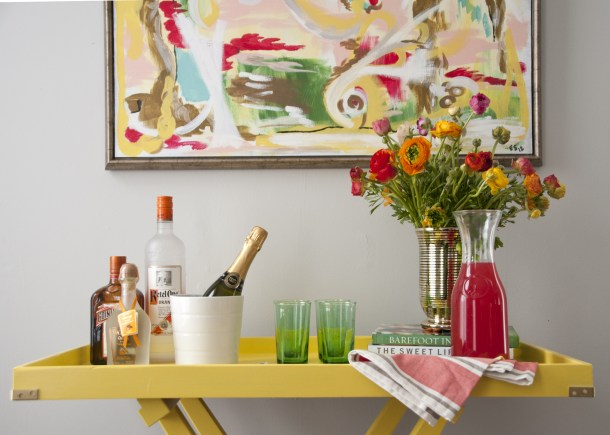 painted tray table
