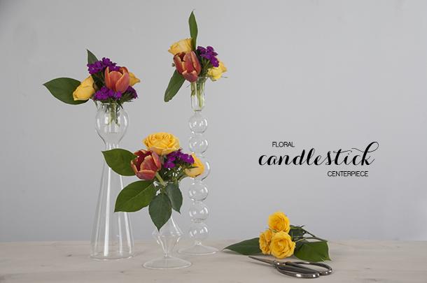 floral candlesticks