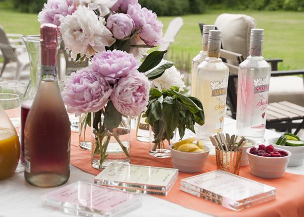 summer cocktail bar