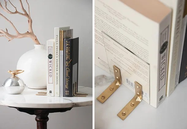 DIY acrylic bookends