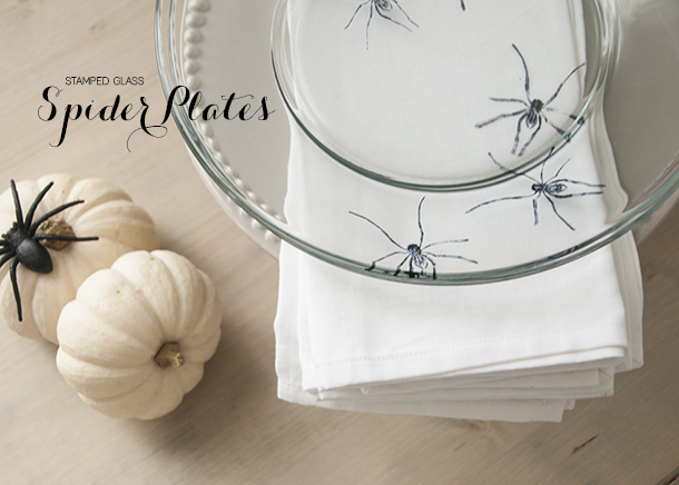 stamped glass spider plates