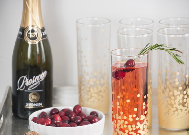 champagne cocktail christmas
