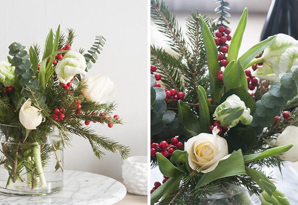 christmas flower arrange