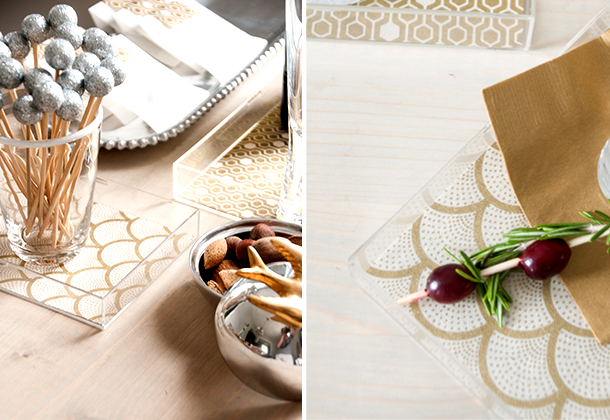 patterned acrylic trays