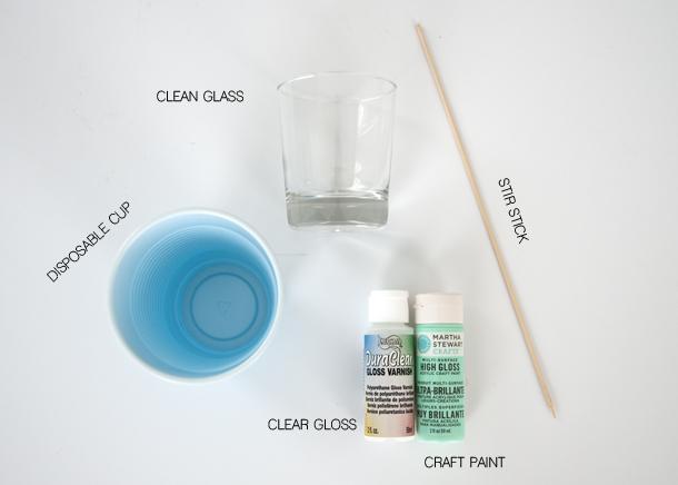 dipped glassware materials