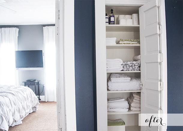 linen closet renovation