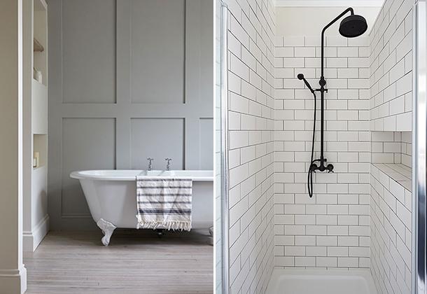 bathroom diptych
