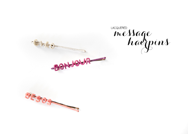 lacquered message hairpins