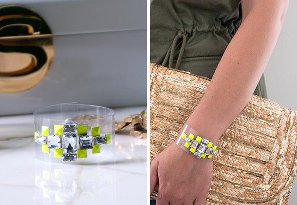 diy lucite gem bracelet