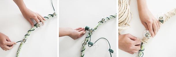 outdoor rope chandelier diy workflow