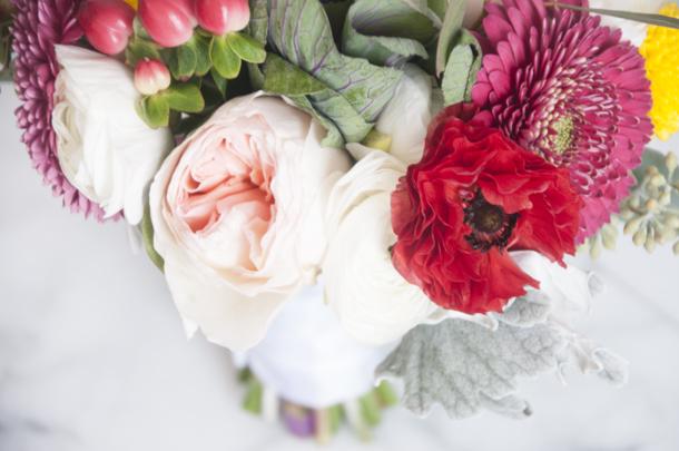 pretty fall wedding flowers